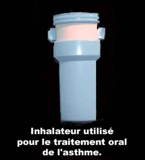 Image photo inhalateur pour le traitement de l 39 asthme for Angine traitement maison