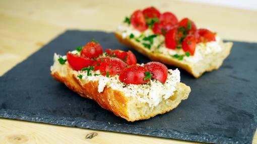 RECETTE SANTÉ - Bruschetta tomate-mozza