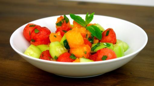 RECETTE SANTÉ - Salade pastèque melon concombre