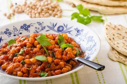 Ragoût de pois chiches à la tomate et aux oignons
