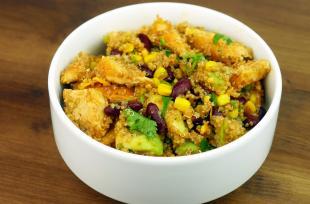RECETTE SANTÉ - Salade quinoa poulet